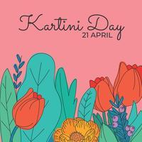 Vieren Kartini-dag met bloemen vector