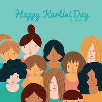 Vrouwen die de dag van Kartini vieren vector