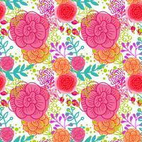 Helder roze rozen naadloos patroon