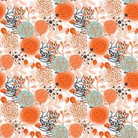 Vintage naadloze patroon hand getrokken bloemen vector