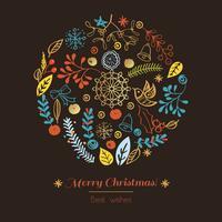 Ansichtkaart Vrolijk kerstfeest vector