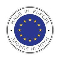 Gemaakt in Europa vlagpictogram. vector