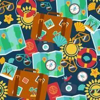 naadloze achtergronden van reizen, zomer vector