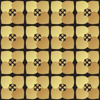 Universele zwarte en gouden naadloze patroon tegels. vector