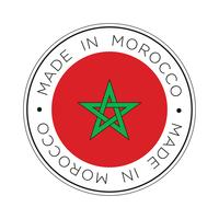 Gemaakt in Marokko vlagpictogram.