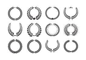 Lauwerkrans Flora-thema vector