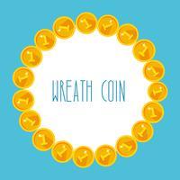 Frame van gouden munten vector