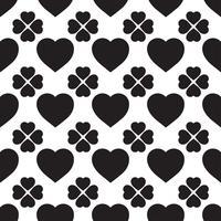 Zwart-wit naadloze patroon met harten vector