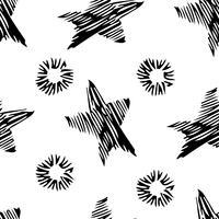Naadloos stijlvol hand getrokken patroon.