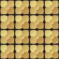 Universele zwarte en gouden naadloze patroon tegels.