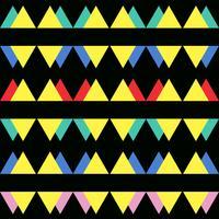 Naadloos uitstekend abstract patroon met driehoeken in de stijl van de jaren 80.