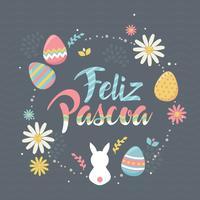 Feliz Pascoa Typografie vector