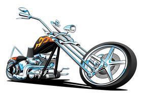 Aangepaste Amerikaanse Chopper motorfiets vectorillustratie