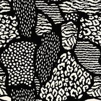 Abstract naadloos patroon met dierlijke druk. Trendy hand getrokken texturen. vector