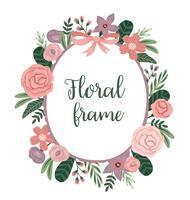 Vector frame met bloemen. Ontwerpelement.