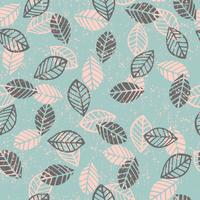 Abstract bloemen naadloos patroon met bladeren. vector