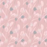 Abstract floral naadloze patroon tulpen. Trendy hand getrokken texturen. vector