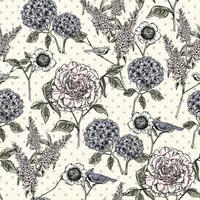 Naadloze bloemmotief. Trendy hand getrokken texturen. vector
