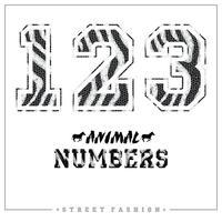 Dieren mozaïeknummers voor t-shirts, posters, kaarten en andere toepassingen. vector