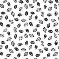 Abstract bloemen naadloos patroon met bladeren. Trendy hand getrokken texturen. vector
