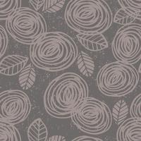 Abstract bloemen naadloos patroon met rozen. vector