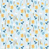 Bloemen abstract naadloos patroon.