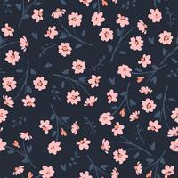 Bloemen abstract naadloos patroon. vector