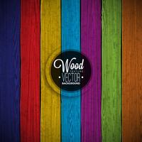 Vectorkleur geschilderd houten textuurontwerp als achtergrond.