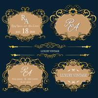 Gouden decoratieve lijsten