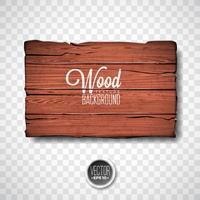 Vector houten textuurontwerp als achtergrond. Natuurlijke donkere vintage houten illustratie