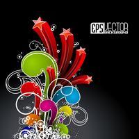 Abstract vector glanzende achtergrond met kleur golf ontwerp
