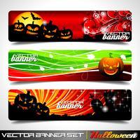Vectordiebanner op een Halloween-thema wordt geplaatst. vector