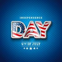 Onafhankelijkheidsdag van de VS Vectorillustratie