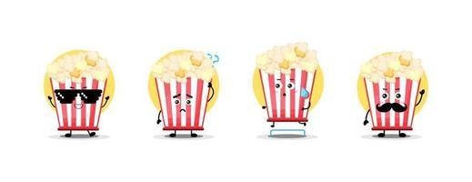 leuke verzameling popcorn-personages vector