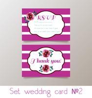 Een set bruiloften uitnodiging vector