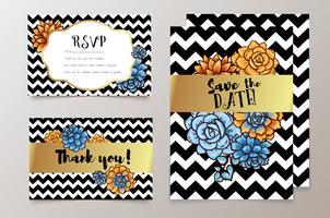 huwelijken, sparen de datumuitnodiging, RSVP en dank u