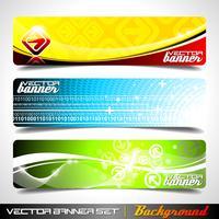Drie abstracte vectorbannerachtergrond vector