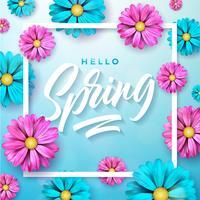 Illustratie met een thema van de de lenteaard