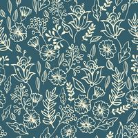 Uitstekend bloemen naadloos patroon vector