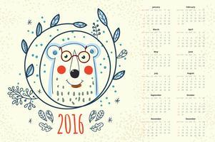 Kalender 12 maanden vector
