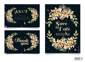 huwelijken, sparen de datumuitnodiging, RSVP en dank u kaarten.