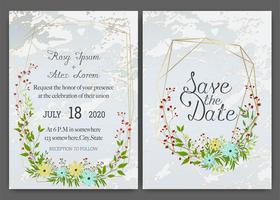 Bloemen hand getrokken frame voor een bruiloft uitnodiging vector