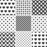 Set monochroom geometrische naadloze universele patronen, tegels.
