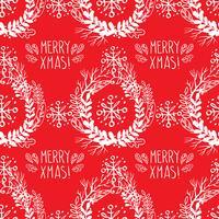 Naadloos patroon van Kerstmiskronen.