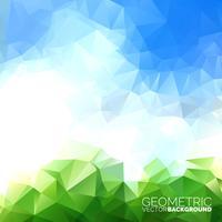 Vector geometrische driehoekenachtergrond. Abstract veelhoekig hemelontwerp.