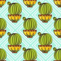 Trend van cactuspatronen vector