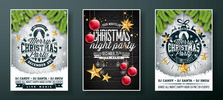 Vrolijk kerstfeest Flyer ontwerp