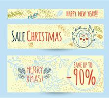 Kerst verkoop ontwerpsjabloon webbanner vector