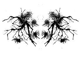 Rorschach inkblot-test vector