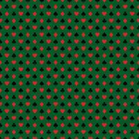 De vector naadloze illustratie van het casinopatroon met speelkaartsymbolen